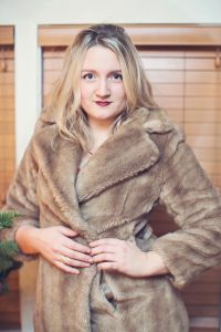 Emily ooks Amazing in Faux Fur